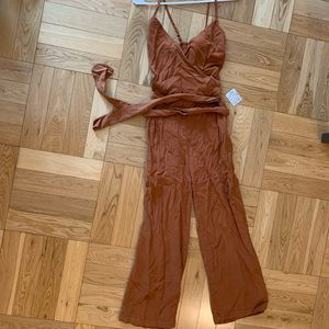 Free People Burnt Orange Jumpsuit